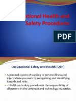 Lec1 Occupational Health and Safety Procedures