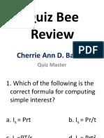 review in General Mathematics ( Quiz bee )