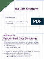 Randomized Data Structures