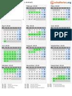 Kalender 2018 Sachsen Anhalt Hoch