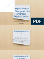 Morphophonemic Changes