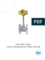 F4001 Vortex Flowmeter Manual