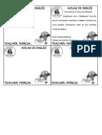 Maternal - 32 - Bilhete Homework
