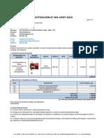 cotización N°001-VEN-2019 WAZA