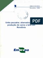 Uréia Pecuária Alternativa Para a Produção de Carne e Leite Em Rondônia