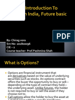 Options, Introduction to Futures in India,