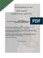 Modelo Para El Estudio de Jose Marti en La Formación Universitaria Pedagógica