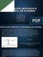 Excitación Impulsiva e Integral de Duhamel