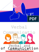 Verbal and Nonverbal Elements of Communication
