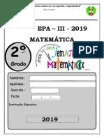 2° matema PROBLEMAS PARA LA EVALUACION DE MATEMATICA DE 2DO SECUNDARIA ANIBAL