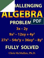 50 Challenging Algebra Problems - Chris McMullen.pdf