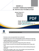 Modul 2 Prosedur Audit terhadap Risiko Tertaksir Pengujian Substantif.pptx