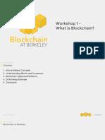 What's Blockchain? - At Berkeley