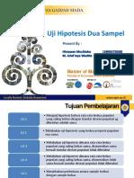 SBD Bab 11 Uji Hipotesis Dua Sampel