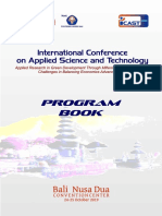 Book Program ICAST 2019 Nusa Dua Bali-Indonesia