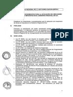 Modelo de Directiva de obras por impuesto