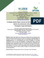 A Relação Sujeito Língua Marcas de Heterogeneidade Nos Dizeres Brasil