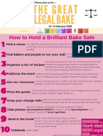 guide how to have a brilliant bake sale 2020
