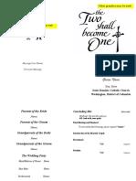 Wedding Program Booklet (template)