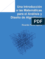 Una Introduccion a Las Matematicas Para El Analisis y Diseño de Algoritmos - Ricardo Perez Aguila