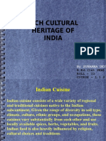 Indian Cuisine Bed
