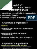 Aula 1 Arquitetura, Organização