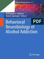 Behavior Neurobiology of Alcohol Addiction