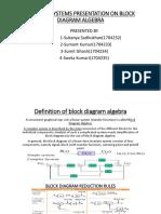 Control Systems Presentation on Block Diagram Algebra