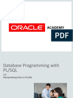 3-3 Manipulating Data in PLSQL