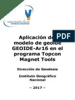 Instructivo Modelo Geoidal GEOIDE-Ar16 Programa Topcon Magnet Tools