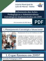 Apresentação Institucional Secretaria Municipal de Educação de Maraú - Bahia 2019