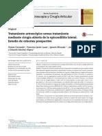 Tto Artroscopico Epicondilitis 2016
