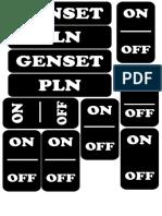 Label Panel Listrik