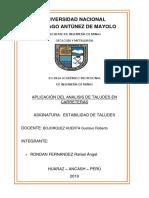 Estabilidad de Taludes - Aplicacion Del Analisis de Taludes en Carreteras