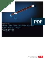 Aisladores para transformador, tipo GOE y GOE2 guia tecnica