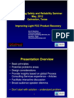 Improving Light FCC Product Recovery Hutchins Process Consulting Services FCCU Galveston 2012