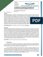 AVALIAÇÃO DA GERAÇÃO E DEPOSIÇÃO DE RESÍDUOS DE  CONSTRUÇÃO CIVIL NA CIDADE DE RIBEIRÃO PRETO/SP