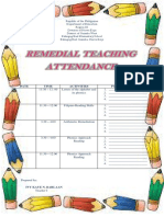 Attendance for Remedial Teaching