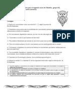evaluación de Filosofía para 5°