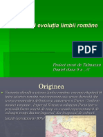 Originea si evoluția limbii române-DanT..ppt