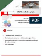 MT227 Unidad 3b Sistemas de Seguimiento - Diseño de Observadores de Estado 2018-1
