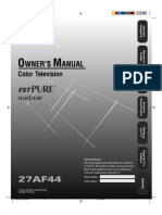 Toshiba 27af44 Owners Manual 128679