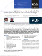Physics and Applications of Superhydrophobic and Superhydrophilic Surfaces and Coatings