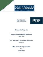 Henry Leonardo Espitia Baracaldo 4.4 Resumen