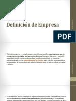 001 Definición de Empresa