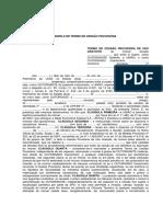 Termo Cessao Provisoria