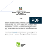 Aviso Dgii - Nuevas Tasas Efectiva de Tributacion - 2017