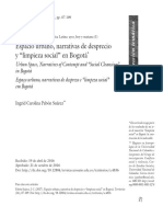 """Espacio urbano, narrativas de desprecio  y """"limpieza social"""" en Bogotá, Ingrid Carolina Pabón Suárez"""