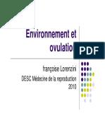 Environnement Et Ovulation