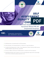 Guideline for Self-Assessment Quality - Checklist
